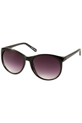 Black drop lense sunglasses
