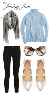 m loves m,blogger,sweater,jeans,scarf,sunglasses,shoes