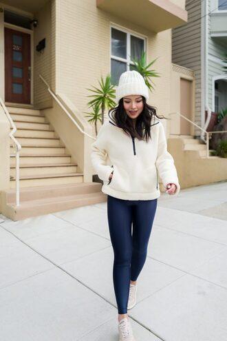 the fancy pants report blogger sweater leggings hat shoes beanie skinny pants sportswear