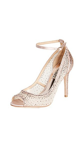 Badgley Mischka open pumps blush shoes
