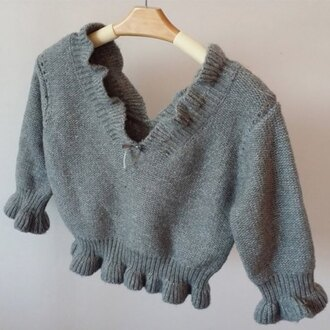 sweater grey cute fashion style cozy warm knitwear crop tops