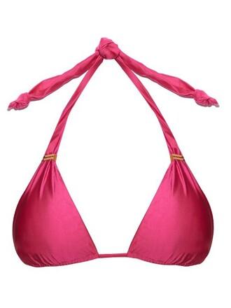 bikini bikini top pink swimwear