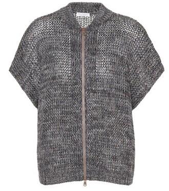 cardigan zip grey sweater