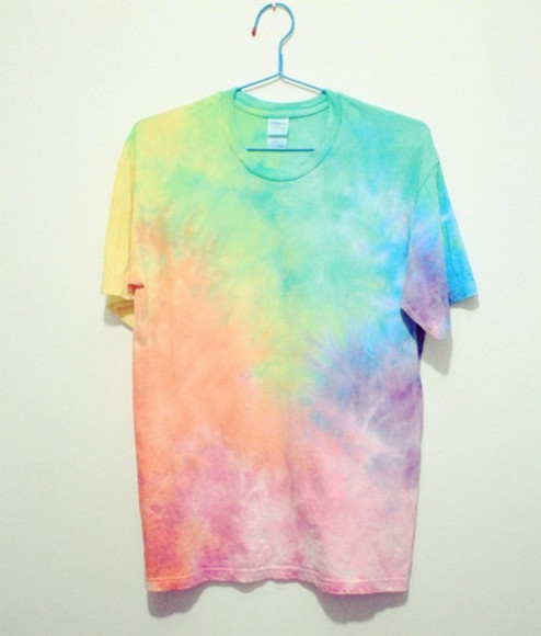 shirt baggy tshirt multicolored tye dye