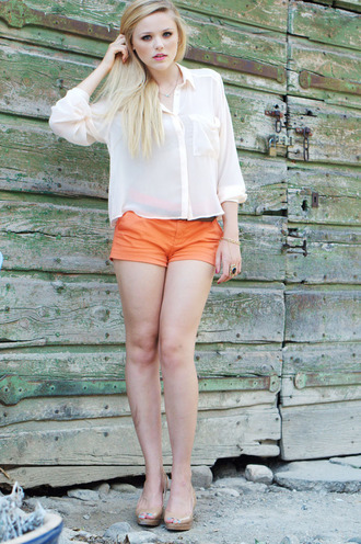 kayture orange shorts