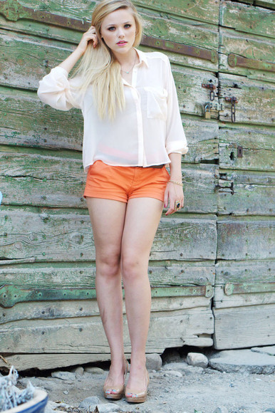 orange shorts kayture