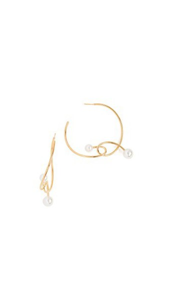 Joanna Laura Constantine pearl earrings hoop earrings gold jewels