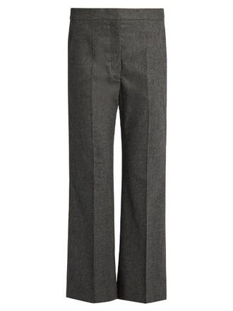 cropped wool dark grey pants