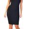 Emprada - black square neck open back dress | emprada