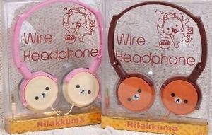 San x Rilakkuma Korilakkuma Stereo Wire Headphone Earphone Earbuds Head Phone | eBay