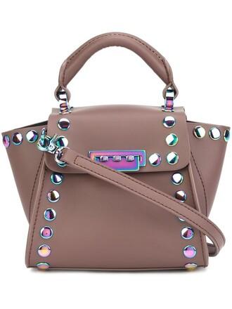 studded women purple pink bag