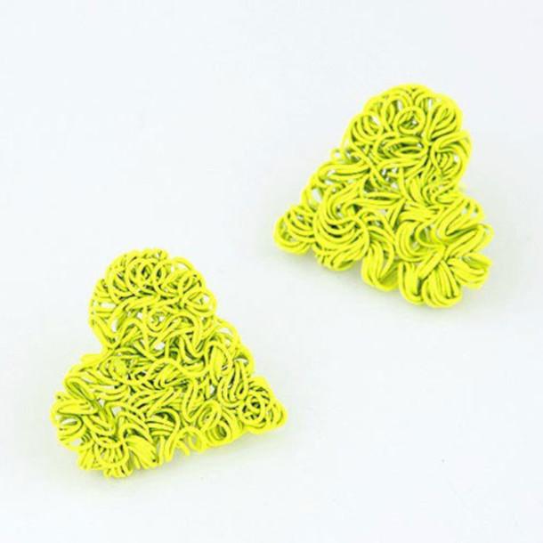 jewels knitting wire studs earrings