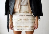 skirt,gold,sequins,beige,mini skirt,layers