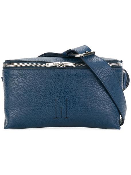 GOLDEN GOOSE DELUXE BRAND belt bag zip women bag leather blue