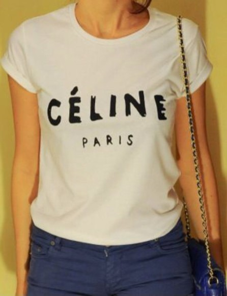 shirt t-shirt vogue celine celine paris shirt celine paris tshirt