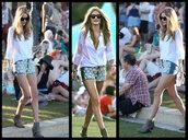 shorts,denim,daisy,rosie huntington-whiteley