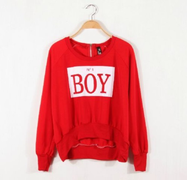 guys red sweater pullover france hyuna hyunah bubble pop cute europe korean fashion korean style number one boy