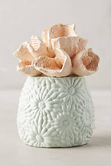 Coral-Topped Candle
