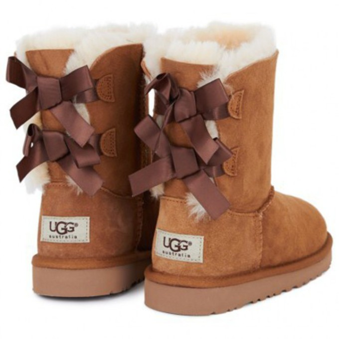 ugg boots bailey bow brown