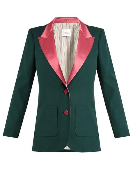 Racil blazer wool green jacket