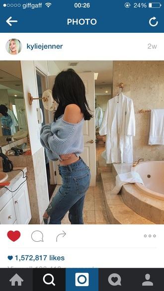 sweater blue kyliejenner