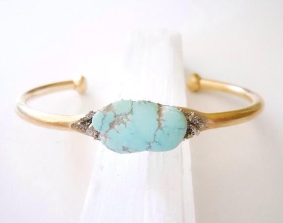 braclets jewels torquise gold