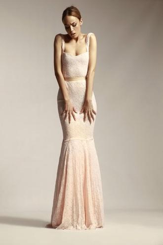 dress lace beautiful lace dress romantic romantic dress blush dress