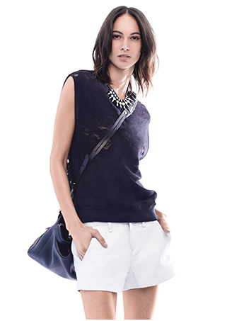 rag & bone EXCLUSIVE Teresa Cut Out Vest: Black | Shop IntermixOnline.com