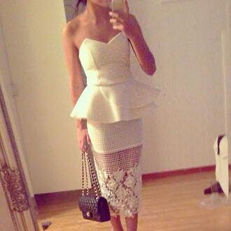 dress dresses long dresses maxis white dress skirt chanel clutch bag