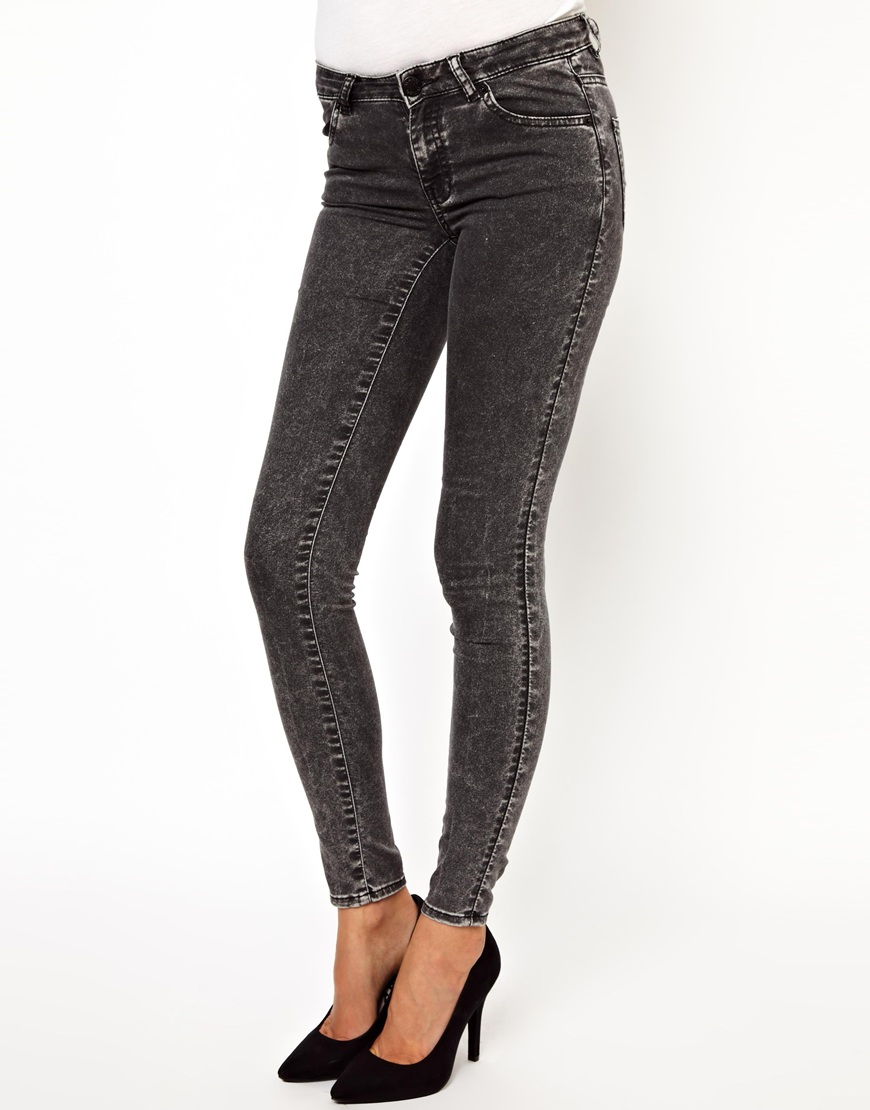 Warehouse Black Acid Wash Supersoft Jean at asos.com