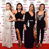 top,jade thirlwall,little mix,long dress,pants,shoes