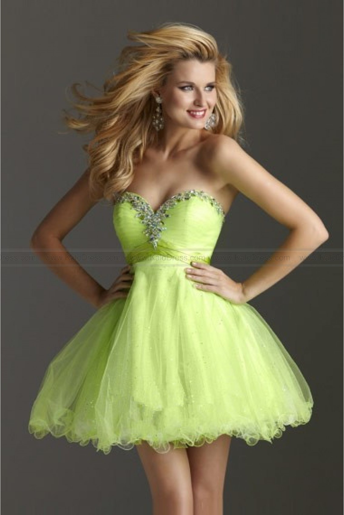 A-line Strapless Sweetheart Organza Prom Dress - Cocktail Dresses - Special Occasion