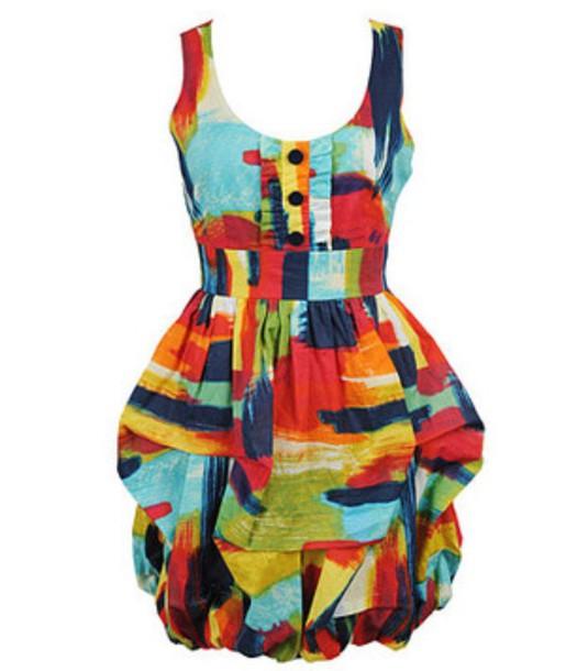 dress multi color sundress