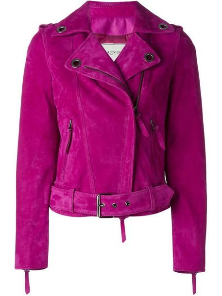 lanvin jacket biker jacket purple pink