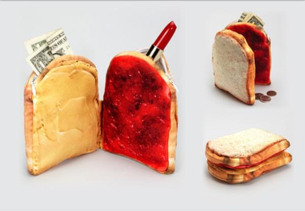 bag bread clutch purse make-up sandwich jellies sandwiches