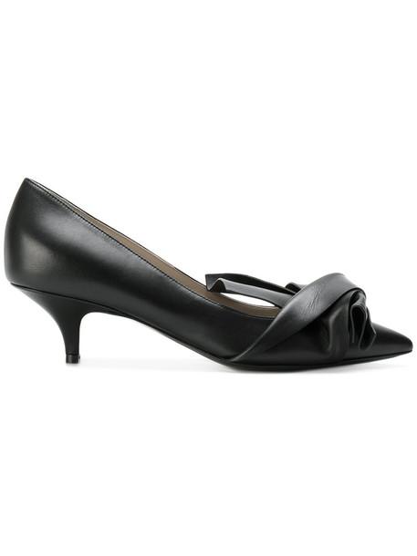 No21 women pumps leather black shoes