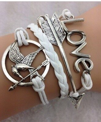 jewels the hunger games bracelets mockingjay