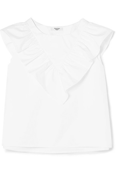 Atlantique Ascoli top white cotton