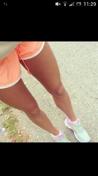 shoes nike free run neon pink glow in the dark