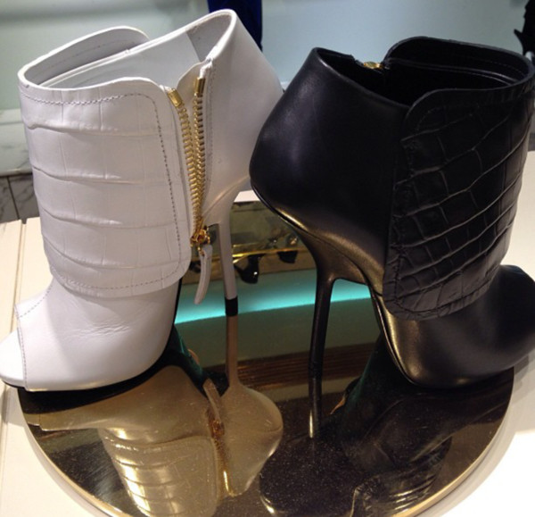 shoes guiseppe zanotti white heels boots