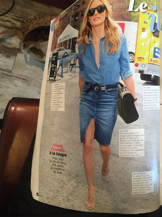 skirt olivia palermo denim skirt shoes