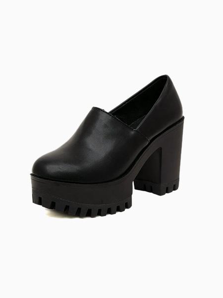 Leather Platform Shoes | ecugo