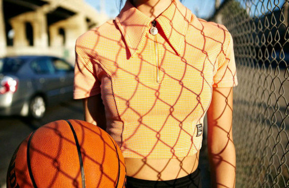 zipper top collar orange
