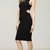 Cross Waist Knitted Pencil Dress