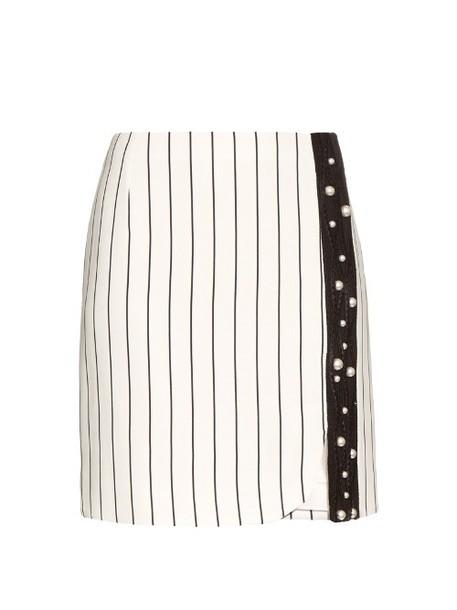 MUGLER skirt mini skirt mini lace white black