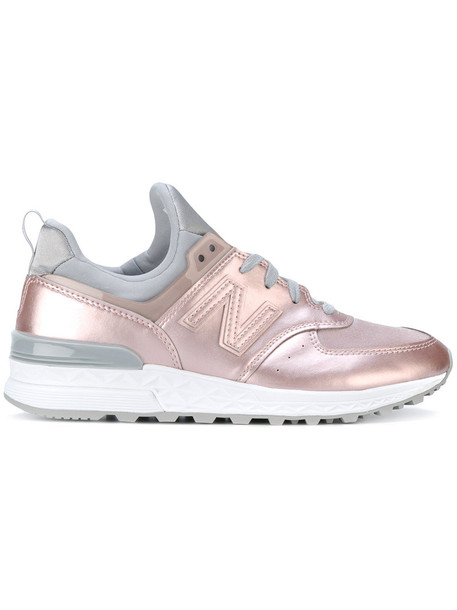 New Balance women sneakers leather purple pink shoes