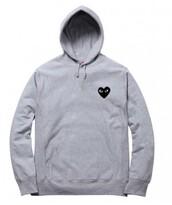 sweater,girly,girl,girly wishlist,hoodie,comme des fuckdown,grey hoodie