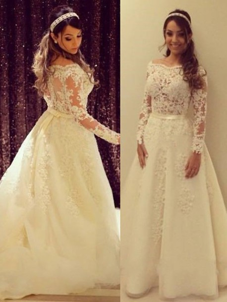 dress wedding dress wedding clothes wedding bride lace lace dress tulle dress white white dress princess wedding dresses