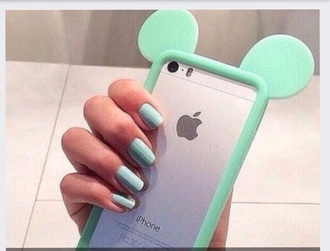 phone cover mint green mickey mouse bumper case