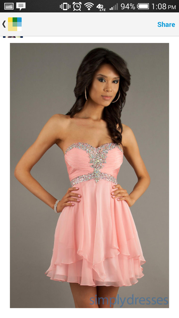 pink dress homecoming dress glitter dress shoes
